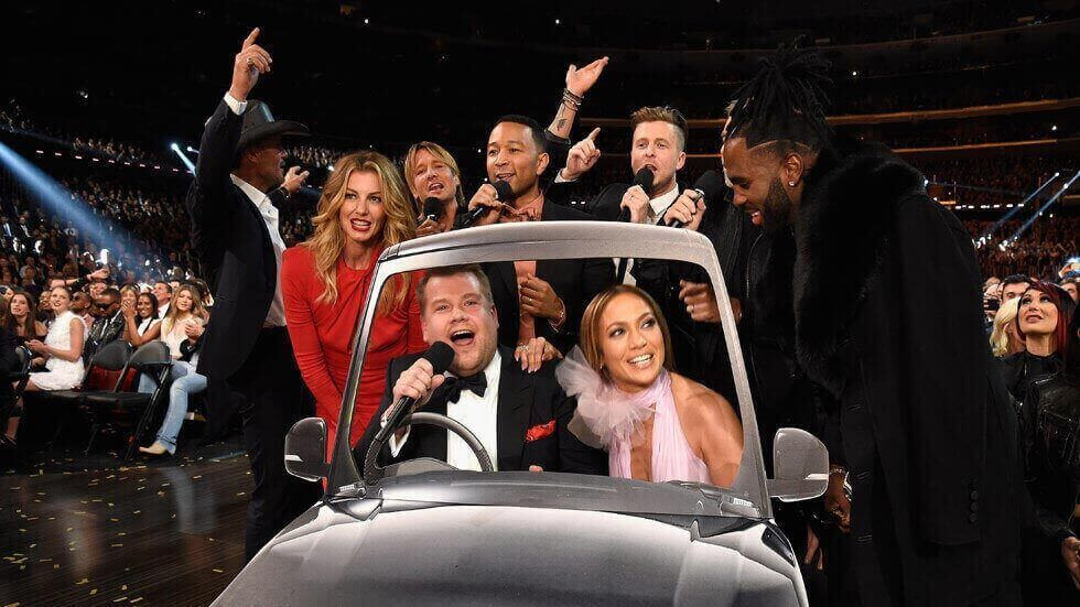 James Corden's Grammys Carpool crew