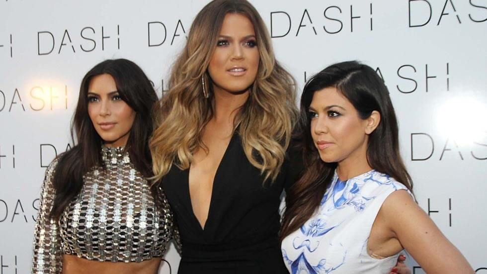 Kim, Khloé and Kourtney kardashian.