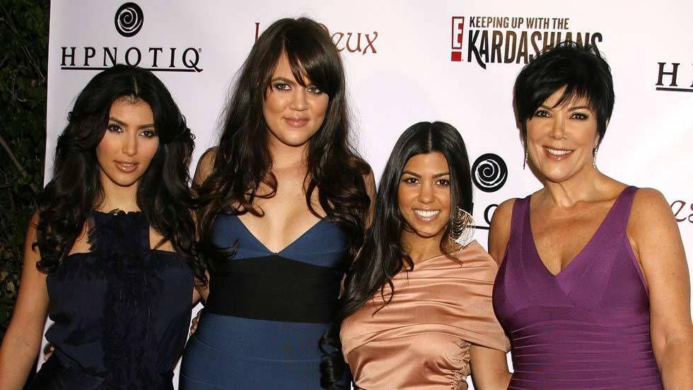 An image of Kim, Khloe, Khourtney and Kris
