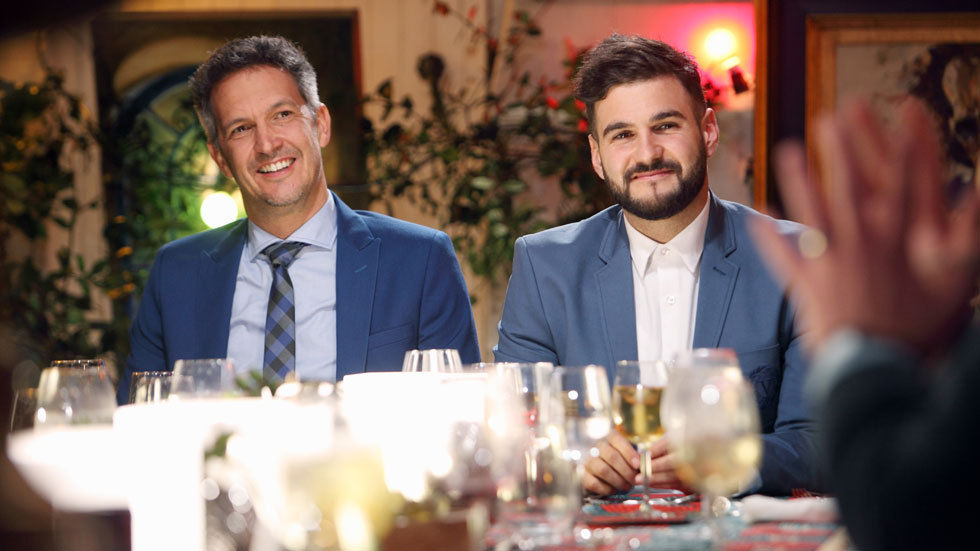 Judges Dave Higgs and J'Something on My Kitchen Rules SA on M-Net, DStv channel 101