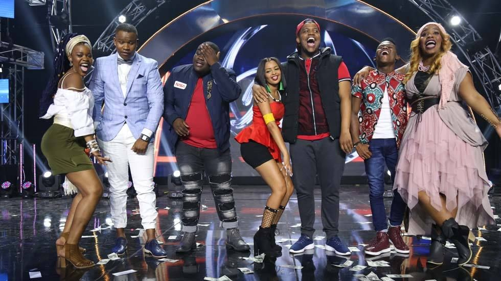 Idols SA contestants for Top 7 on Mzansi Magic on 8 October 2017.