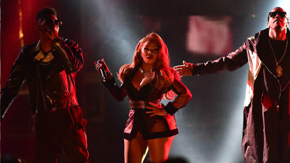 Lil KIm and P. Diddy at the BET Hip Hop Awards.