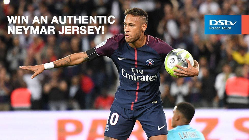 Artwork for a DStv Nigeria competion, where subscribers can win an authentic Neymar jersey