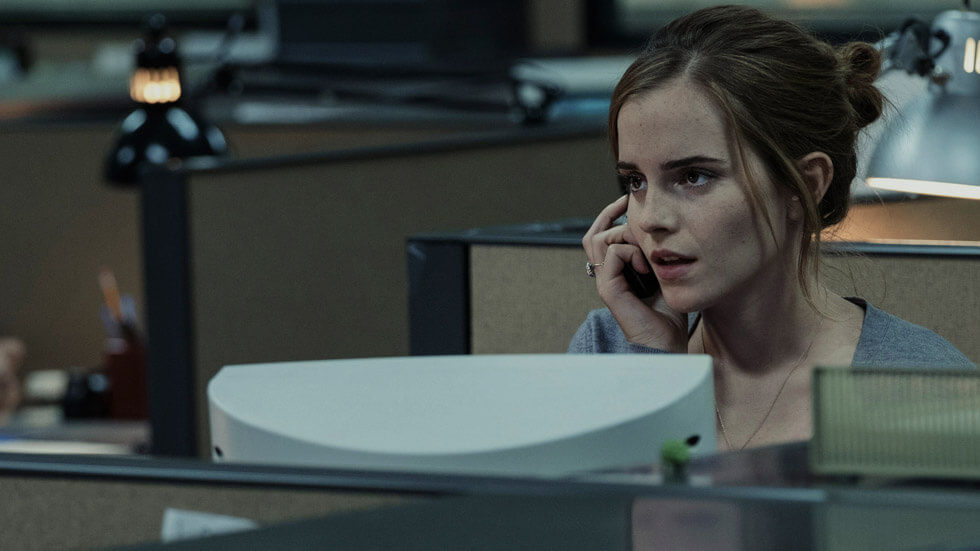Emma Watson in a scene from The Circle.