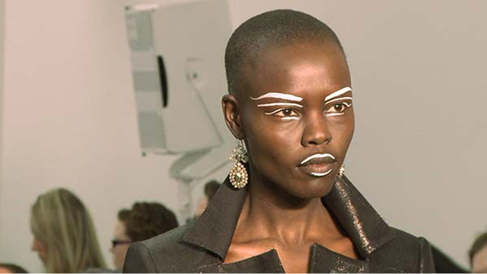Ajuma from Beyond the Runway, model with face paint