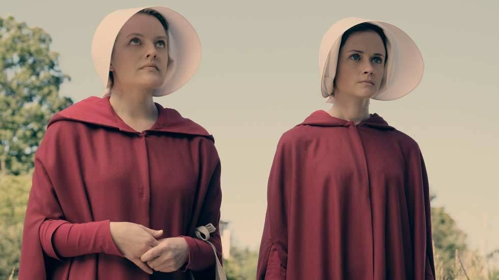 An image of the casat of The Handmaids Tale