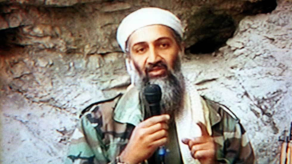 Osama Bin Laden speaks to his followers in an interview.