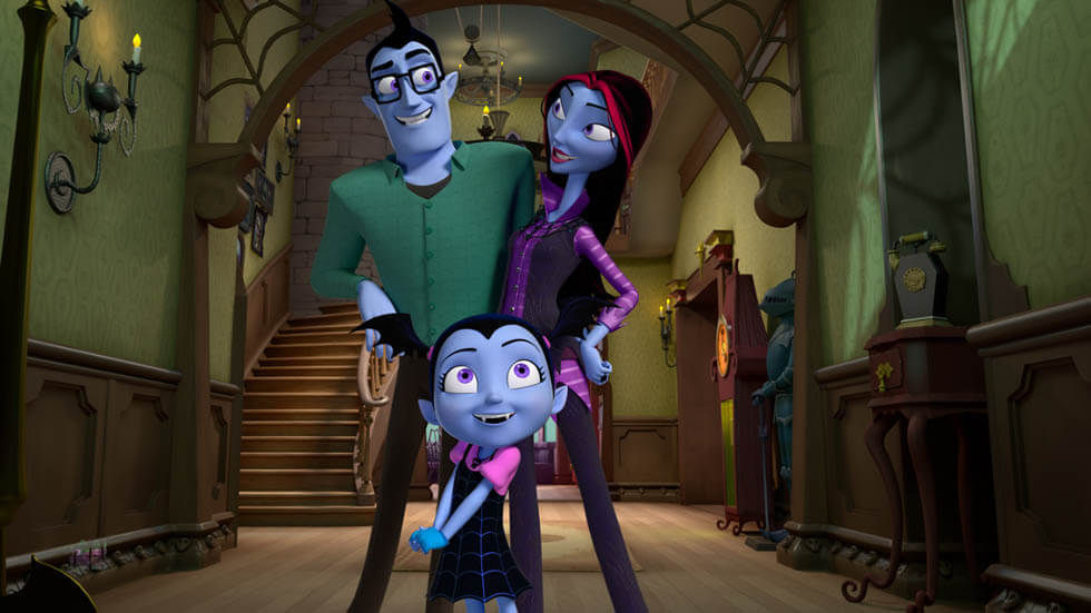 The characters from Disney Junior's Vampirina.