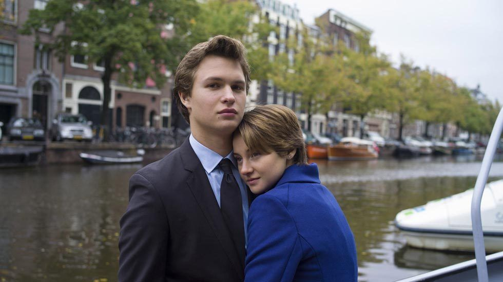 Artwork of the movie The Fault In Our Stars, with Gus and Hazel in the Netherlands