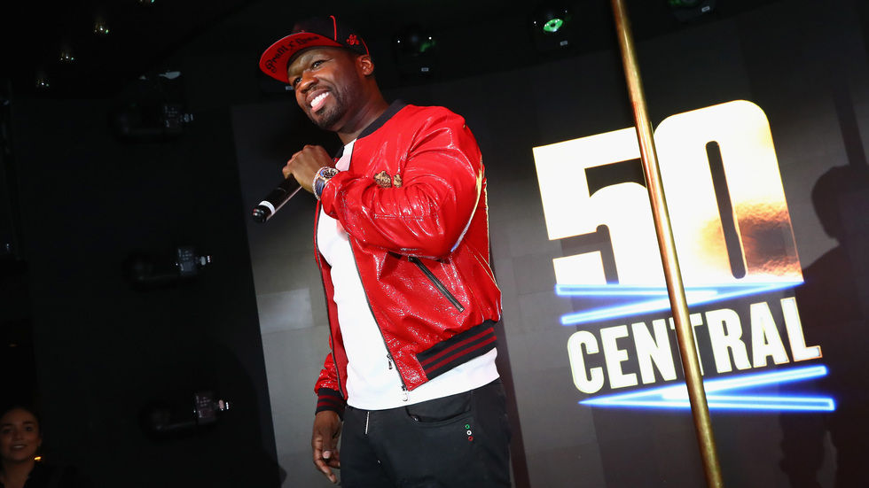50 Cent as host of comedy show 50 Central, BET channel 129 on DStv