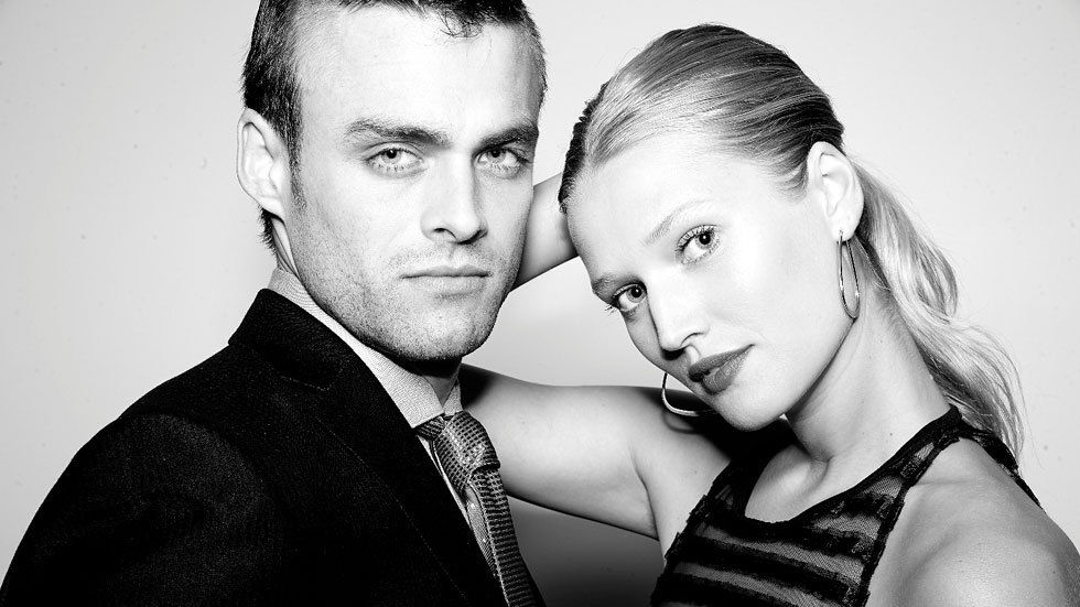 Andreas Damm as Oscar Pistorius and Toni Garrn as Reeva Steenkamp in Blade Runner Killer on Lifetime, DStv channel 131
