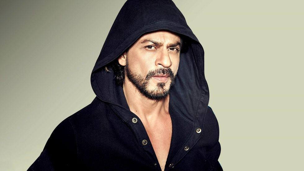 Sharukh Khan wearing black hoodie