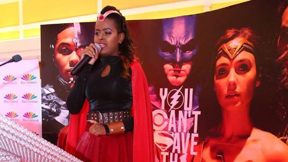 Host Amina Abdi at DStv Justice League pre-screening