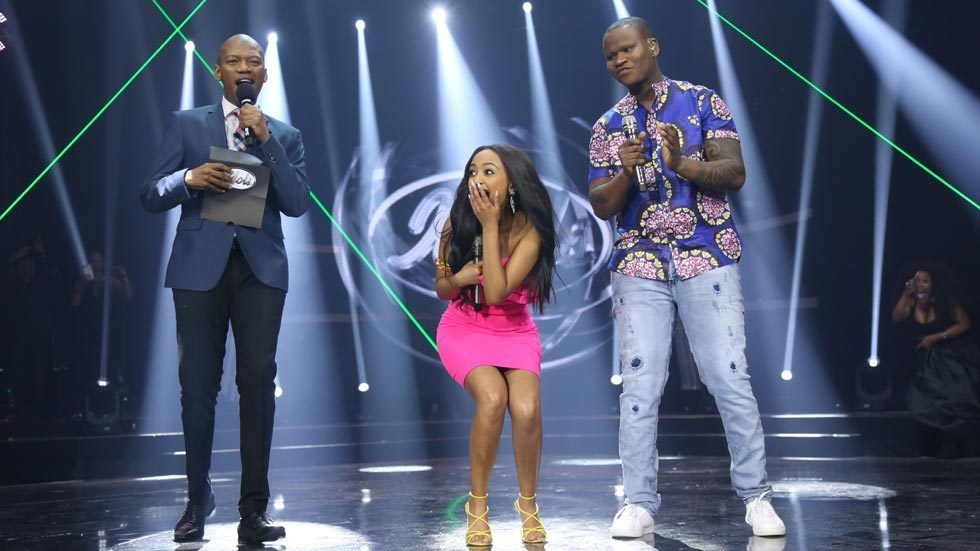 The moment Idols SA presenter Proverb announces the season 13 winner - Paxton