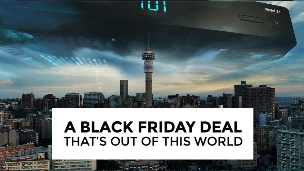black friday image decoder in sky above jhb skyline