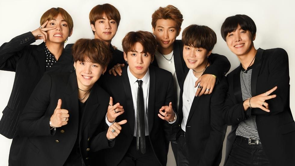 The members of South Korean boy group, BTS.