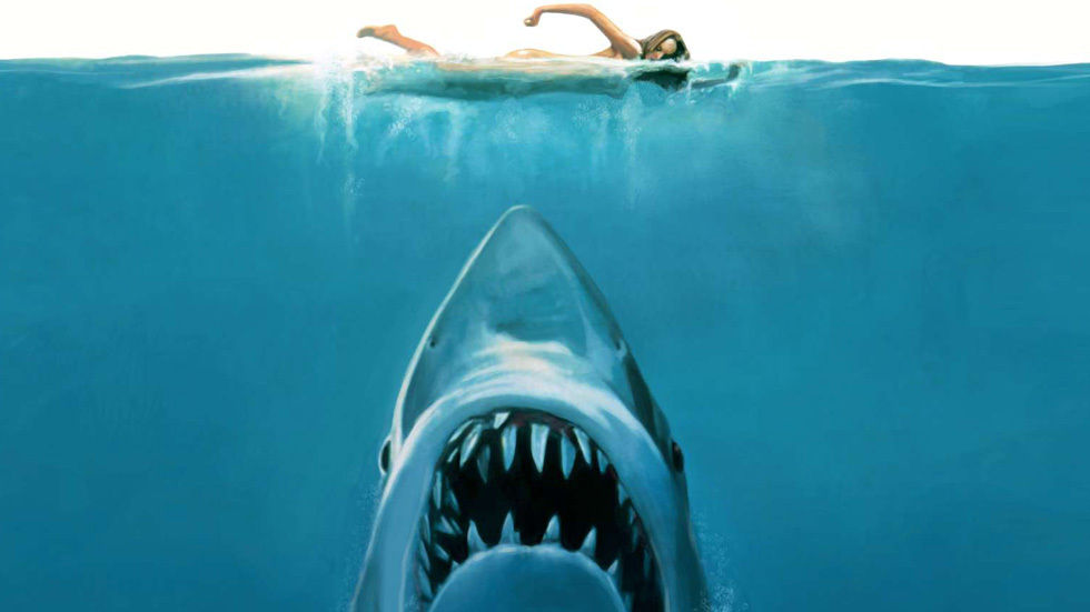Artwork for the movie Jaws