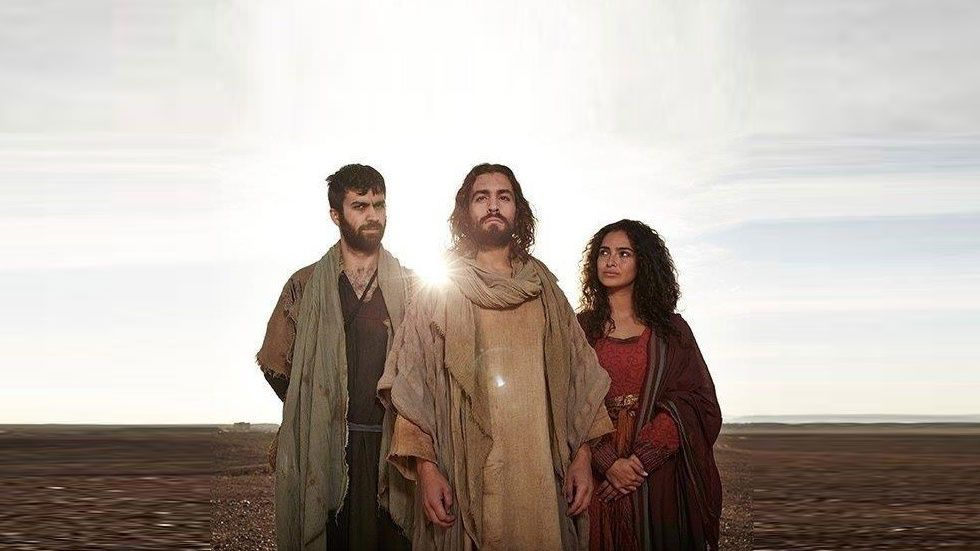 Jesus with a man and a woman