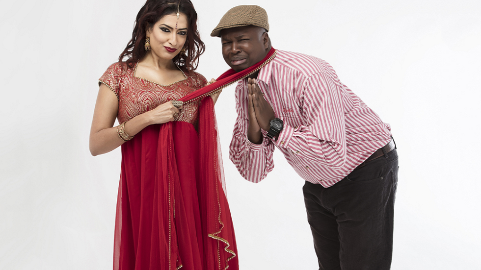 Eve D'Souza and Maqbul Mohammed as Varshita and Donovan in Varshita.