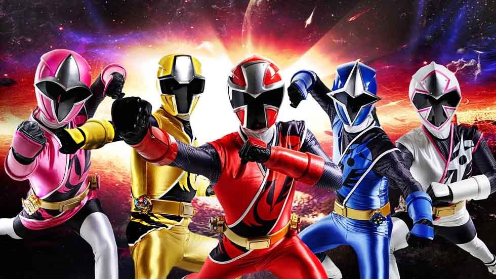 Group photo for Power Rangers.