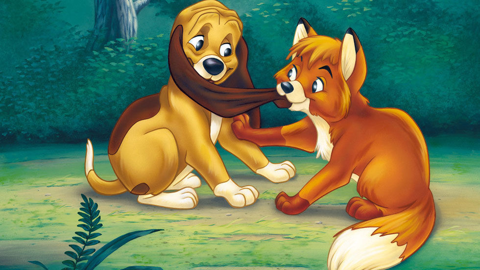 Image from animated movie The Fox and The Hound
