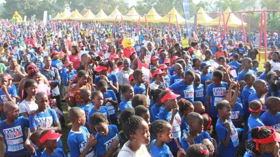 DStv Kampala kids run turns up thousands