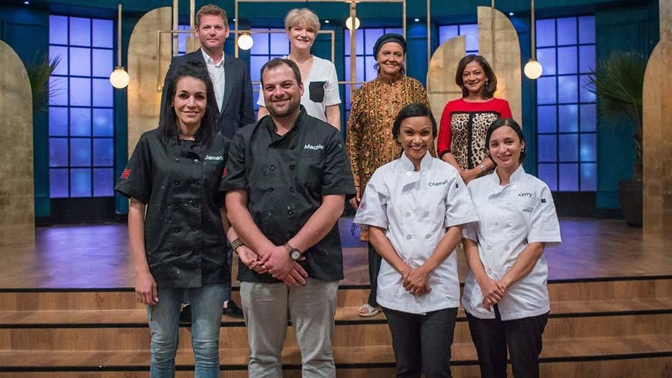 My Kitchen Rules finalists with judges.