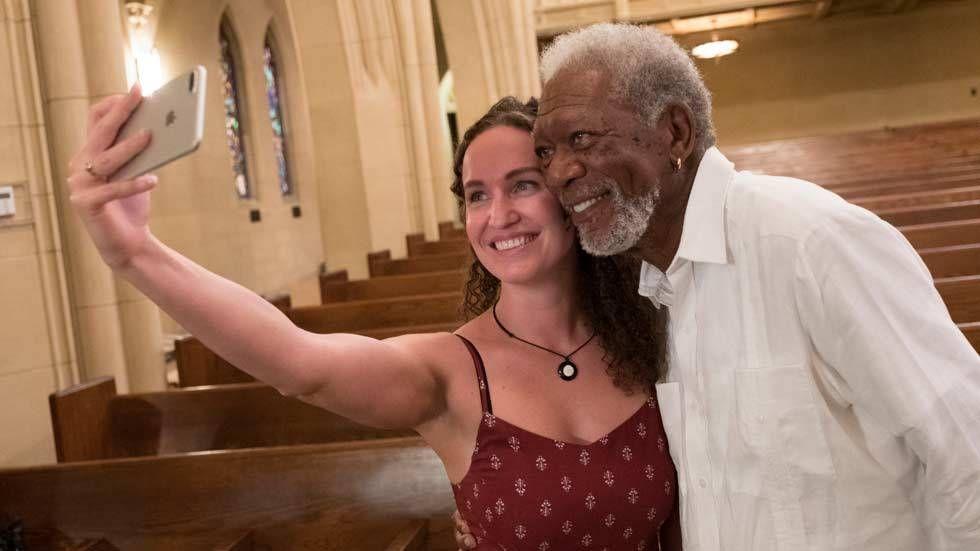 An image with Morgan Freeman
