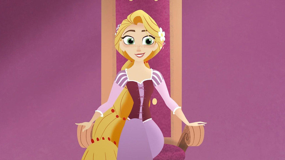 A scene from Tangled.