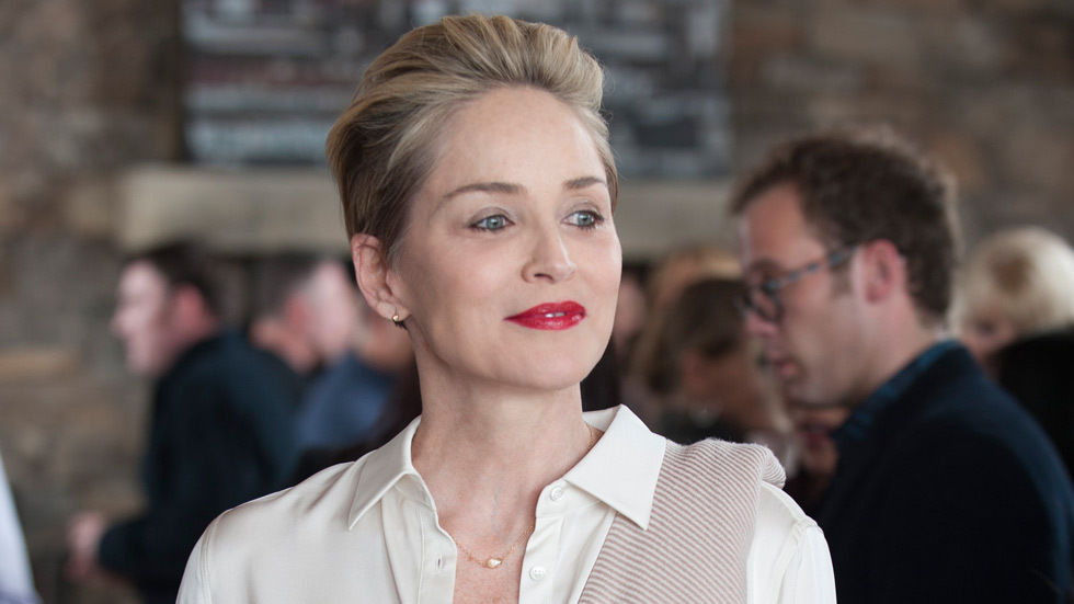 Actress Sharon Stone in Mosaic