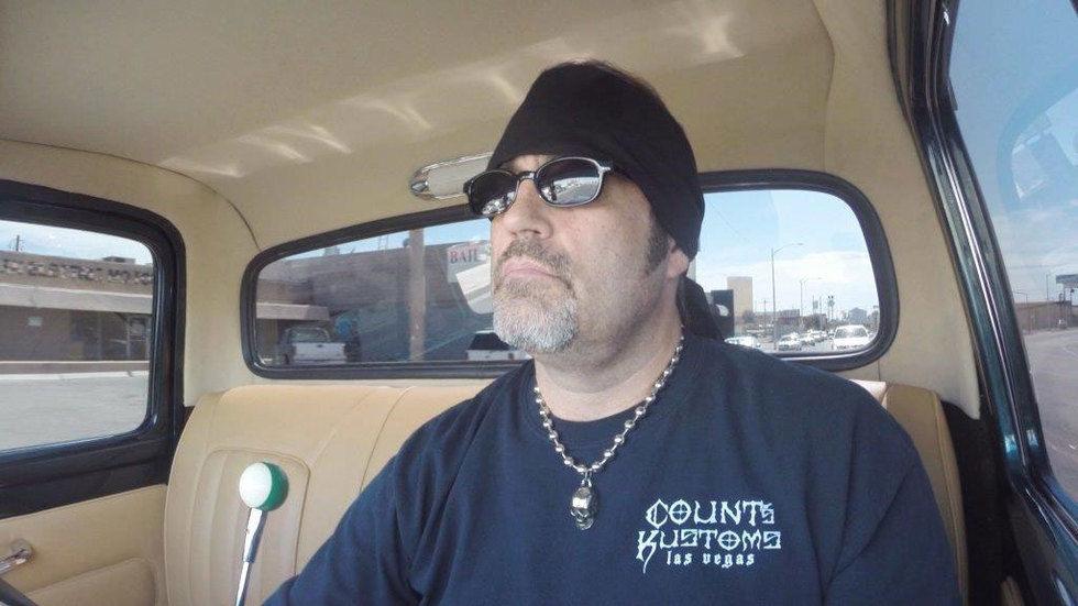Danny Koker sits in car