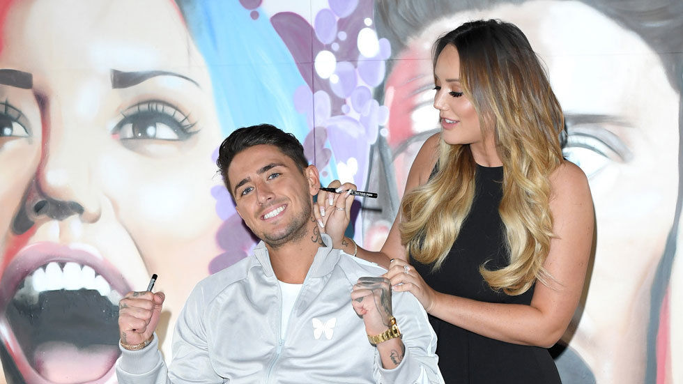 Charlotte Crosby with Stephen Bear.