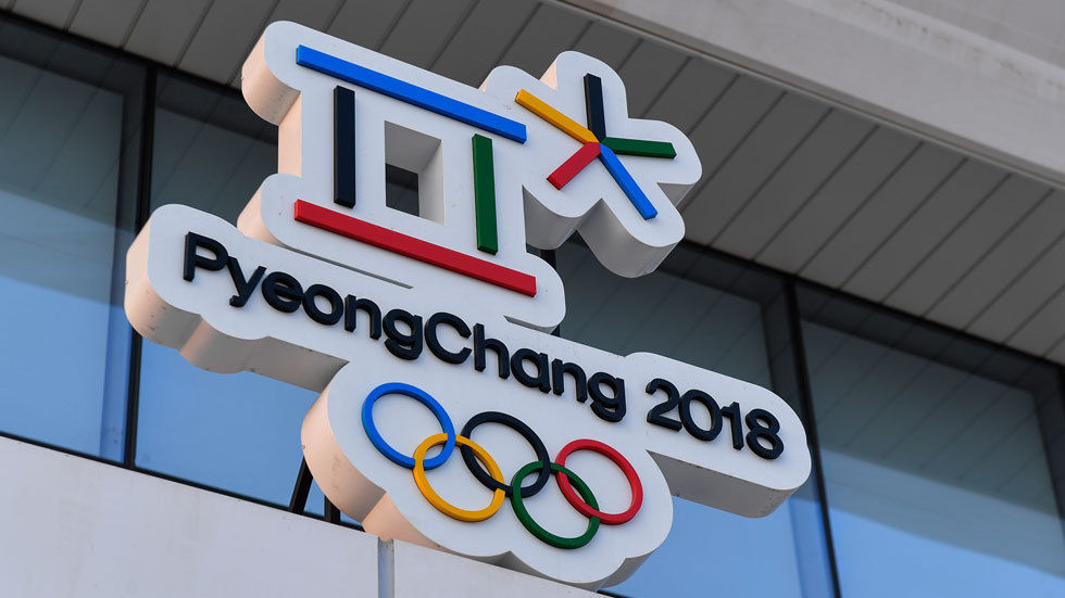 The official logo of the 2018 Winter Olympics.