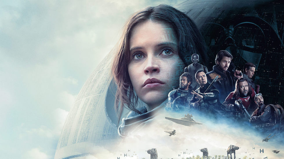 Felicity Jones as Jyn in the poster for Rogue One: A Star Wars Story