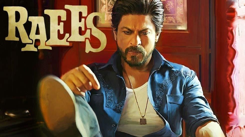 Shah Rukh Khan in Raees poster