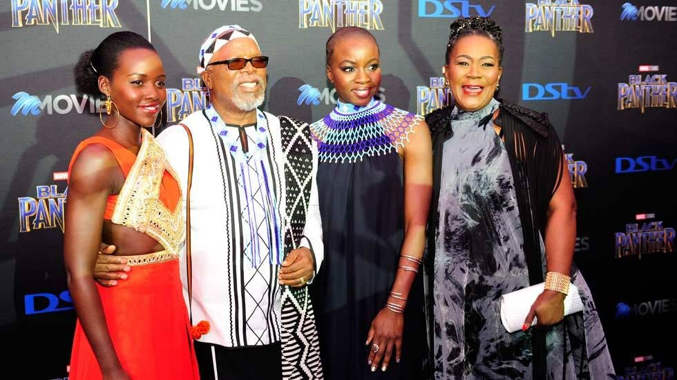 An image with Connie Chiume, John Kani, Danai Gurira and Luipta Nyong'o