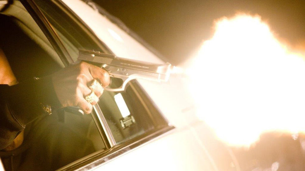 Gun fired out of car window