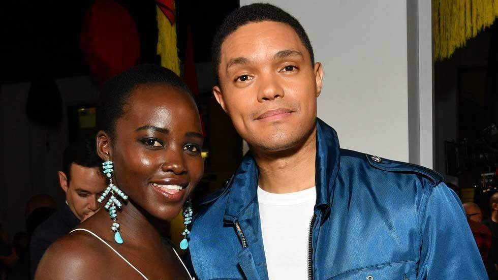 An image of Trevor Noah and Lupita Nyong'o