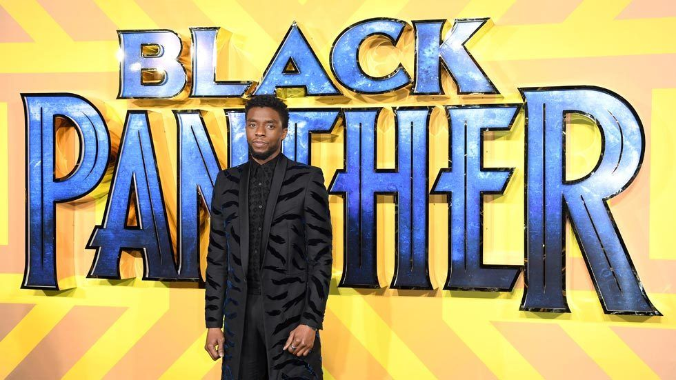 Chadwick Boseman attends the European Premiere of 'Black Panther' at Eventim Apollo on February 8, 2018 in London, England. (Photo by Karwai Tang/WireImage)