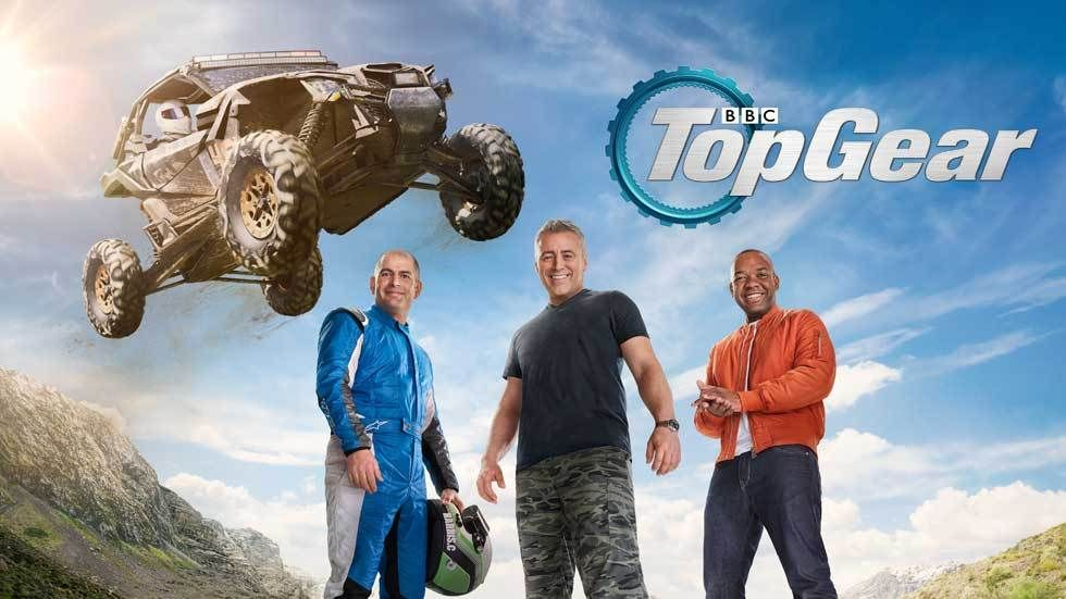 Top Gear poster with presenters.