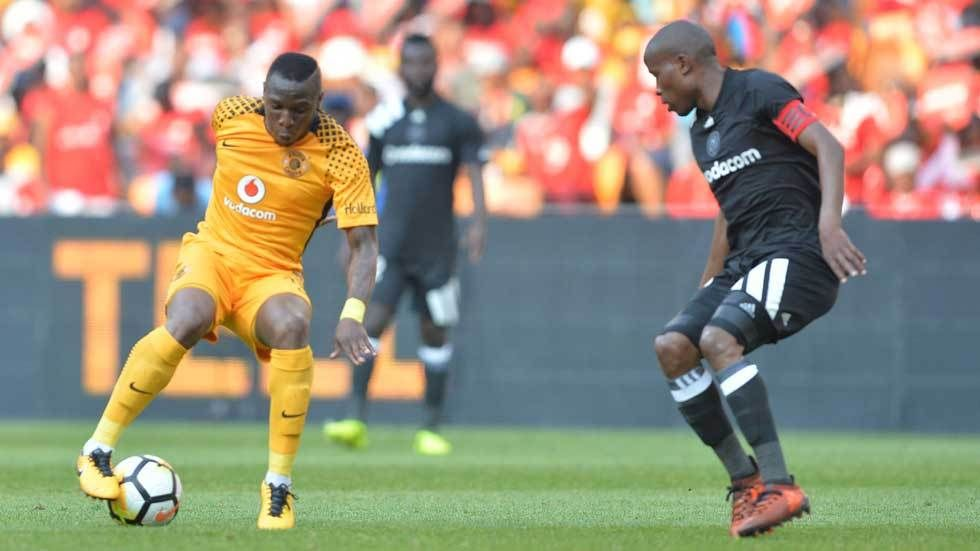 Kaizer Chiefs and Orlando Pirates players in action.
