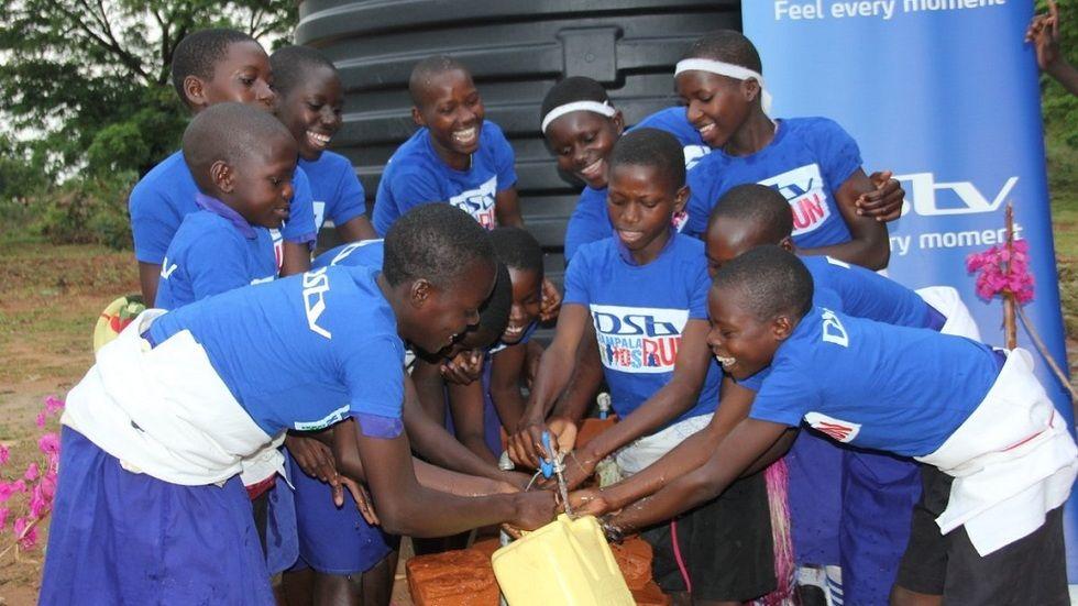 DStv Kampala Kids Run sponsors clean water in schools