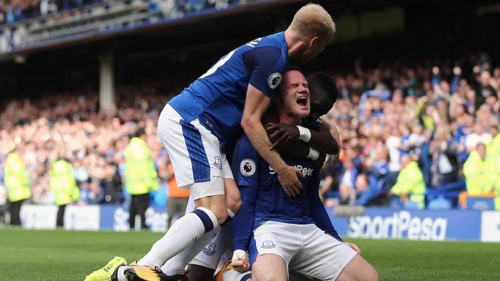 Wayne Rooney celebrates a goal.