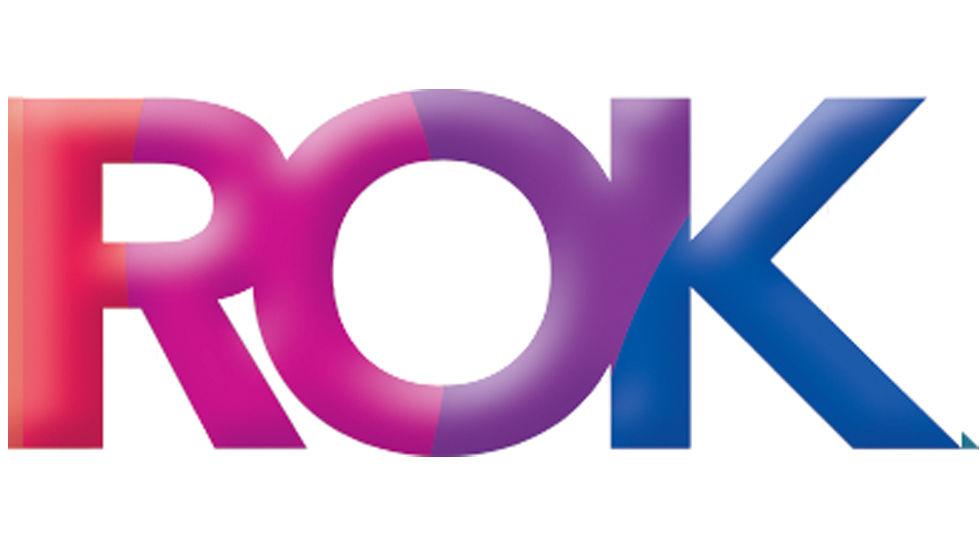 Logo for the DStv channel ROK
