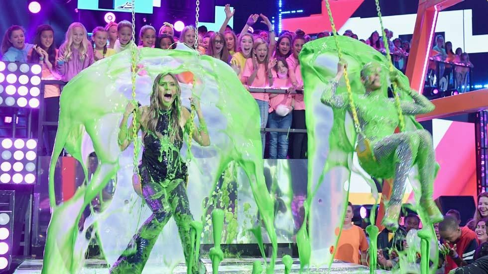 It was a slimefest at the Nickelodeon Kids' Choice Awards