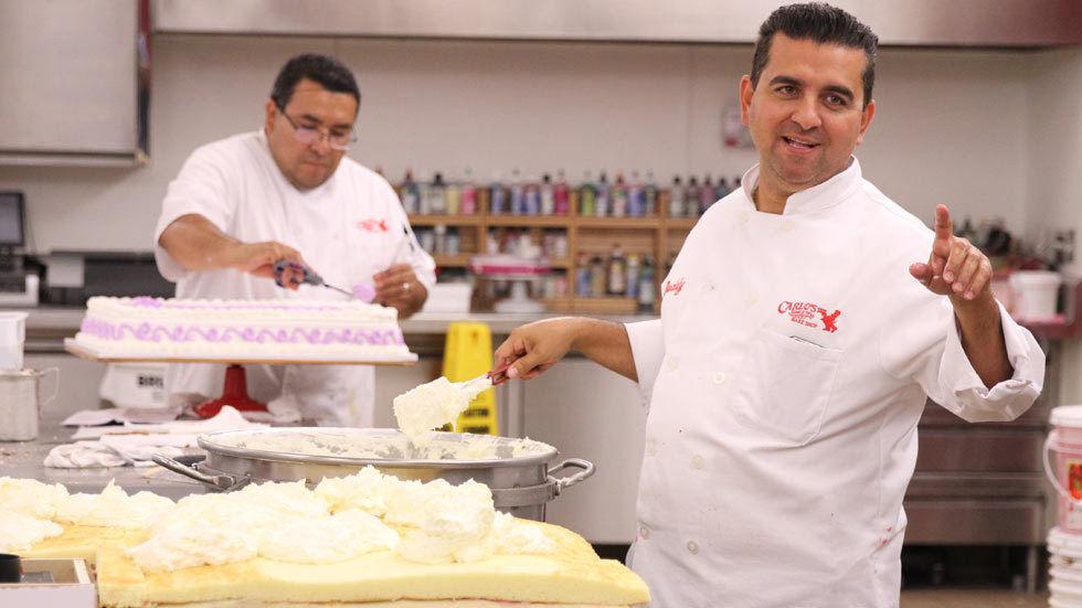 Buddy making cake