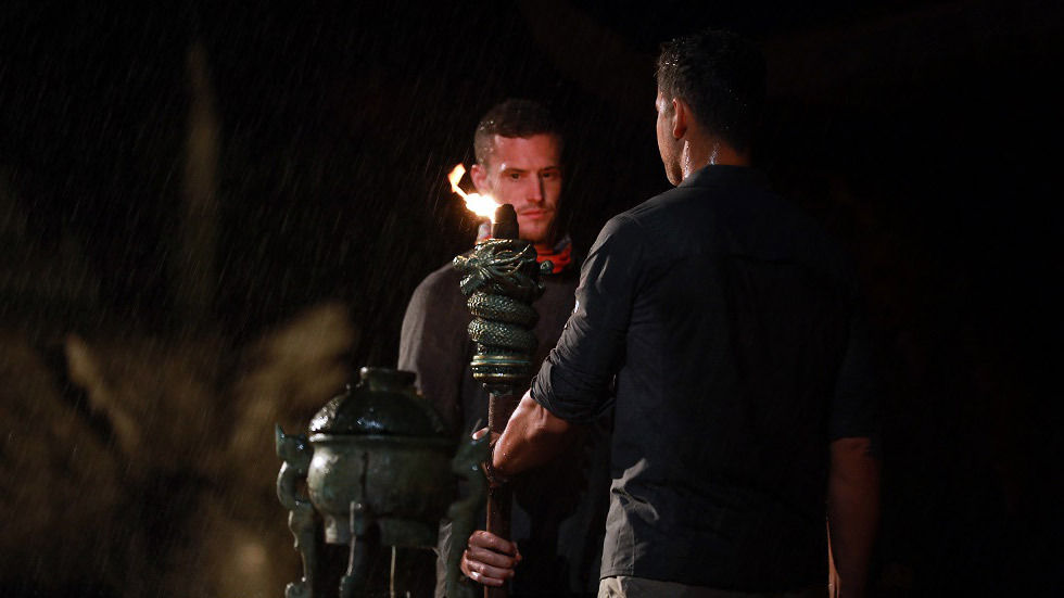 Seamus watches as his torch gets extinguished.