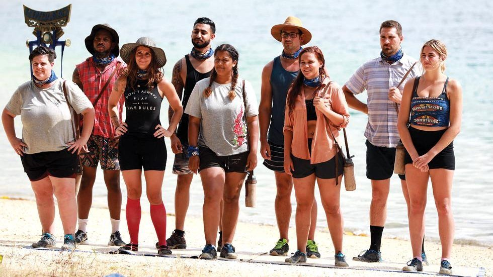Survivor SA castaways look on.