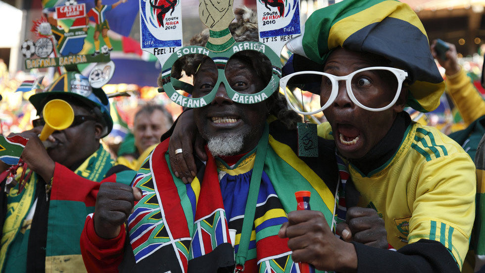 Fans at the 2010 Fifa World Cup hosted by South Africa.