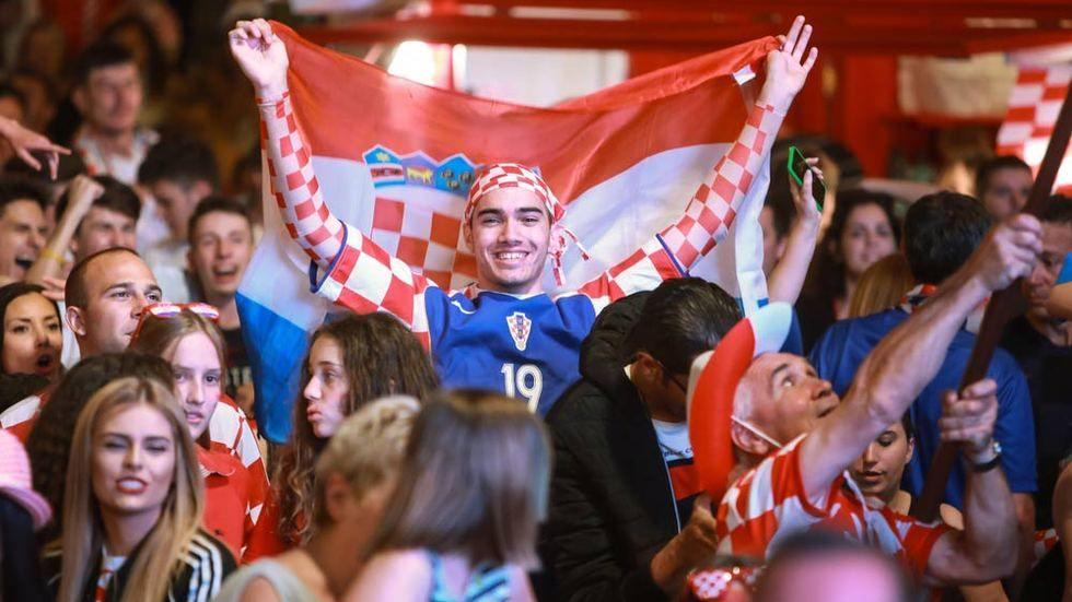 Croatia fans.